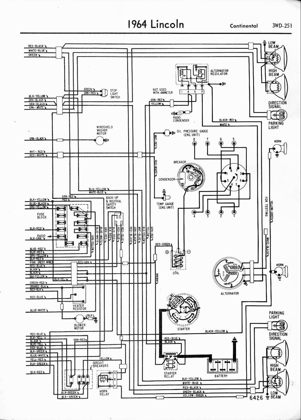 medium resolution of 94 lincoln continental wiring diagrams free