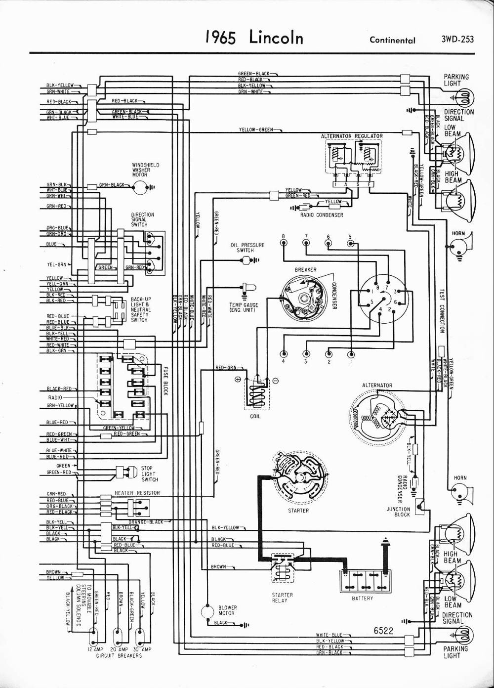 medium resolution of lincoln wiring diagrams 1957 1965 1999 club car wiring diagram 1965 lincoln right half