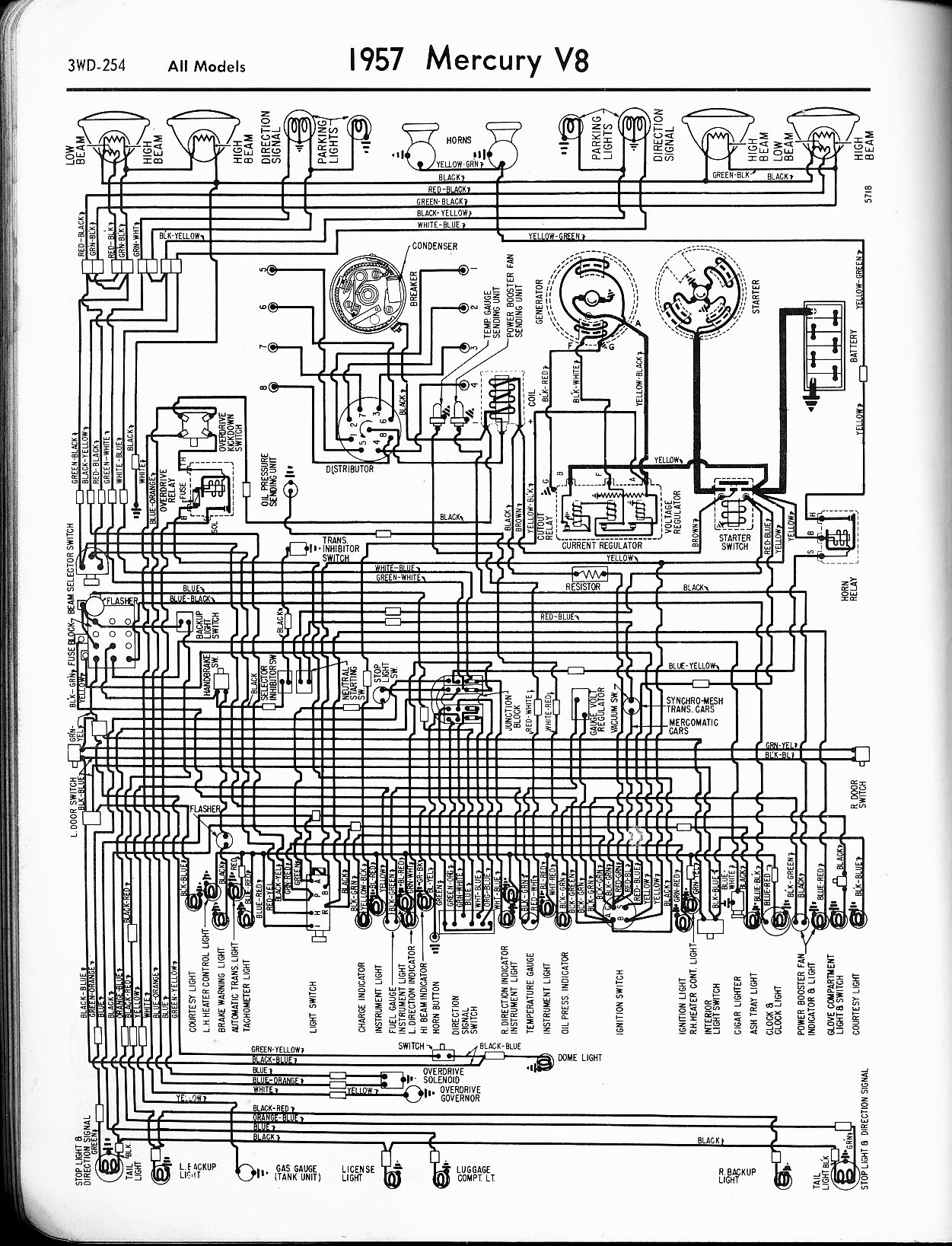 55 Chev Wiring Diagram Mercury Wiring Diagrams The Old Car Manual Project