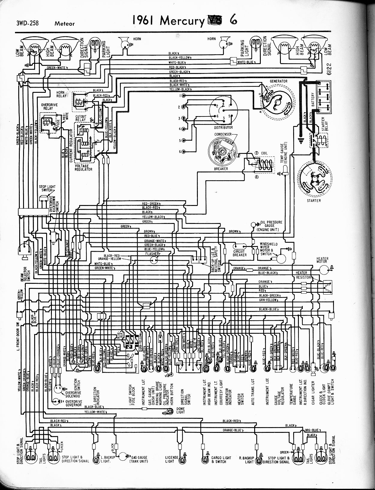 1964 ford ignition switch diagram wiring for car radio installation mercury diagrams - the old manual project