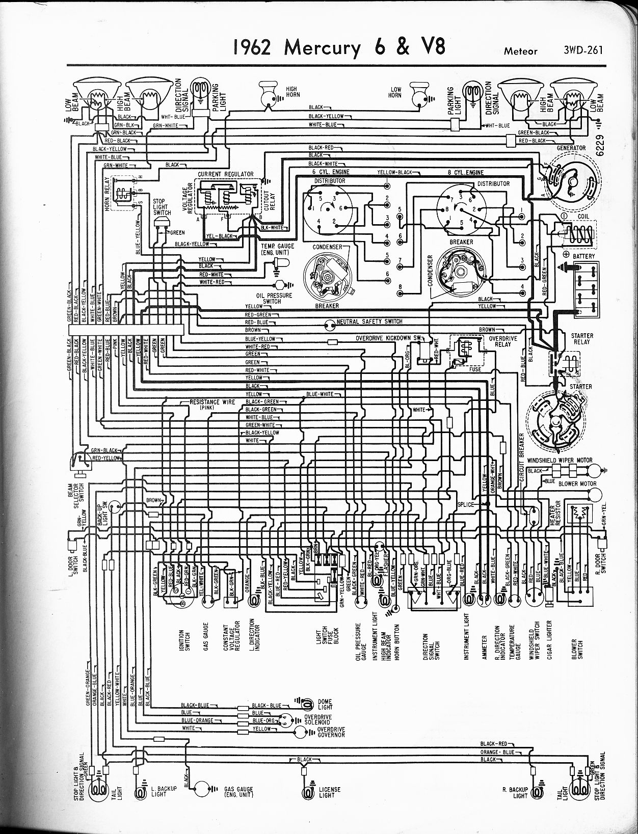 hight resolution of mercury wiring diagrams the old car manual project rh oldcarmanualproject com 1965 mercury marauder 2003 mercury