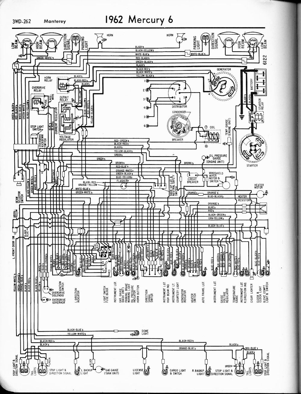 medium resolution of 1962 6 monterey mercury wiring diagrams the old car manual project 1962 6 monterey 1970 chevy truck ignition