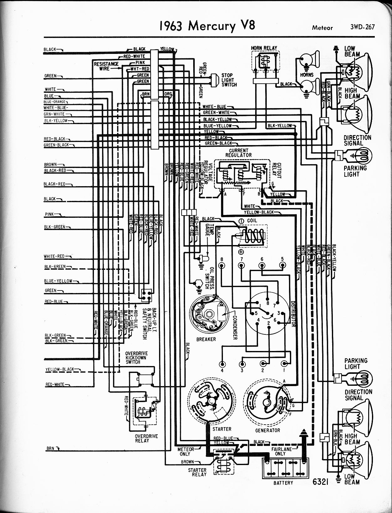Mercury wiring diagrams the old car manual project 1963 v8 meteor right page mercury 9 9 wiring diagram