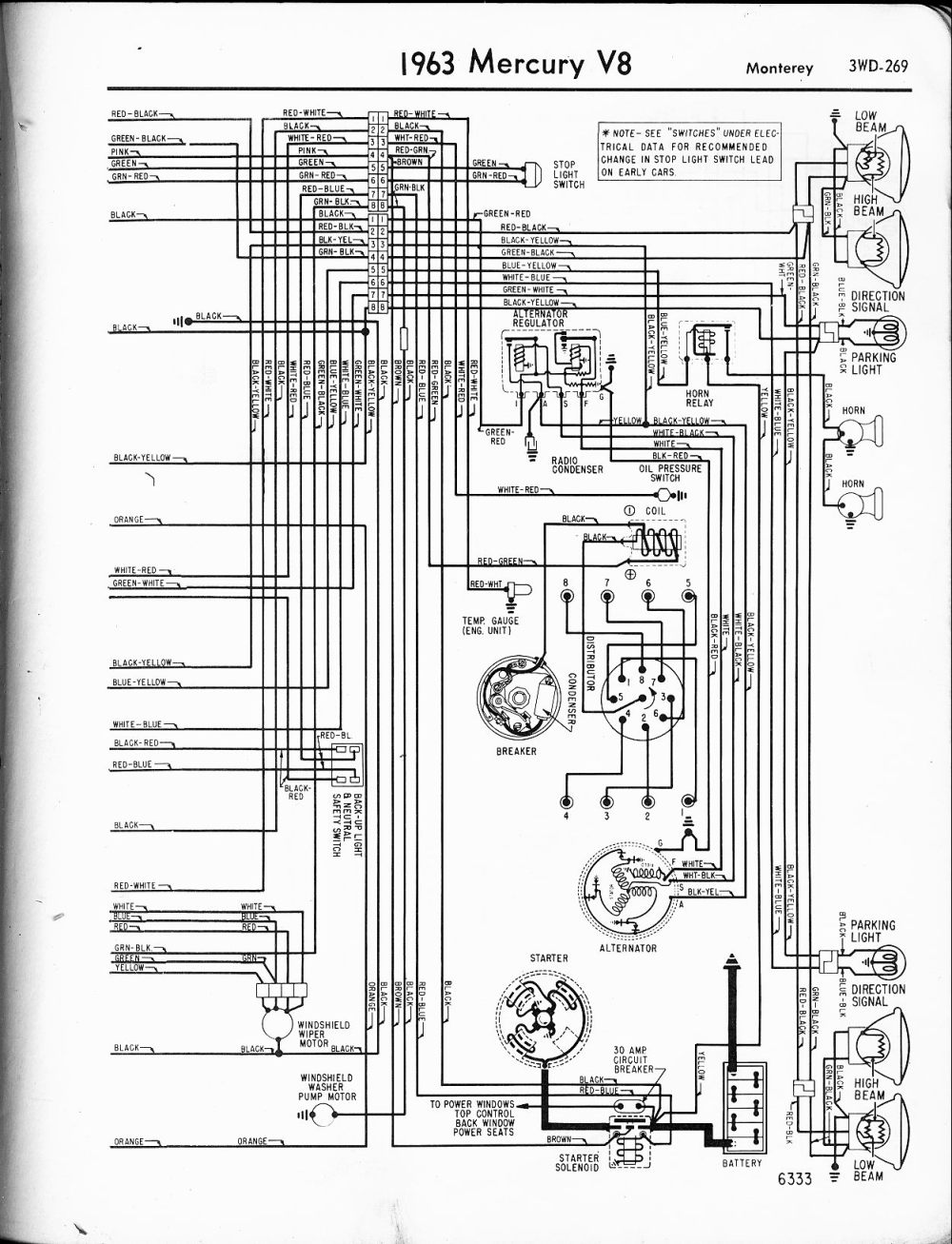 medium resolution of mercury wiring diagrams the old car manual project rh oldcarmanualproject com 1963 mercury marauder 1967 mercury marauder