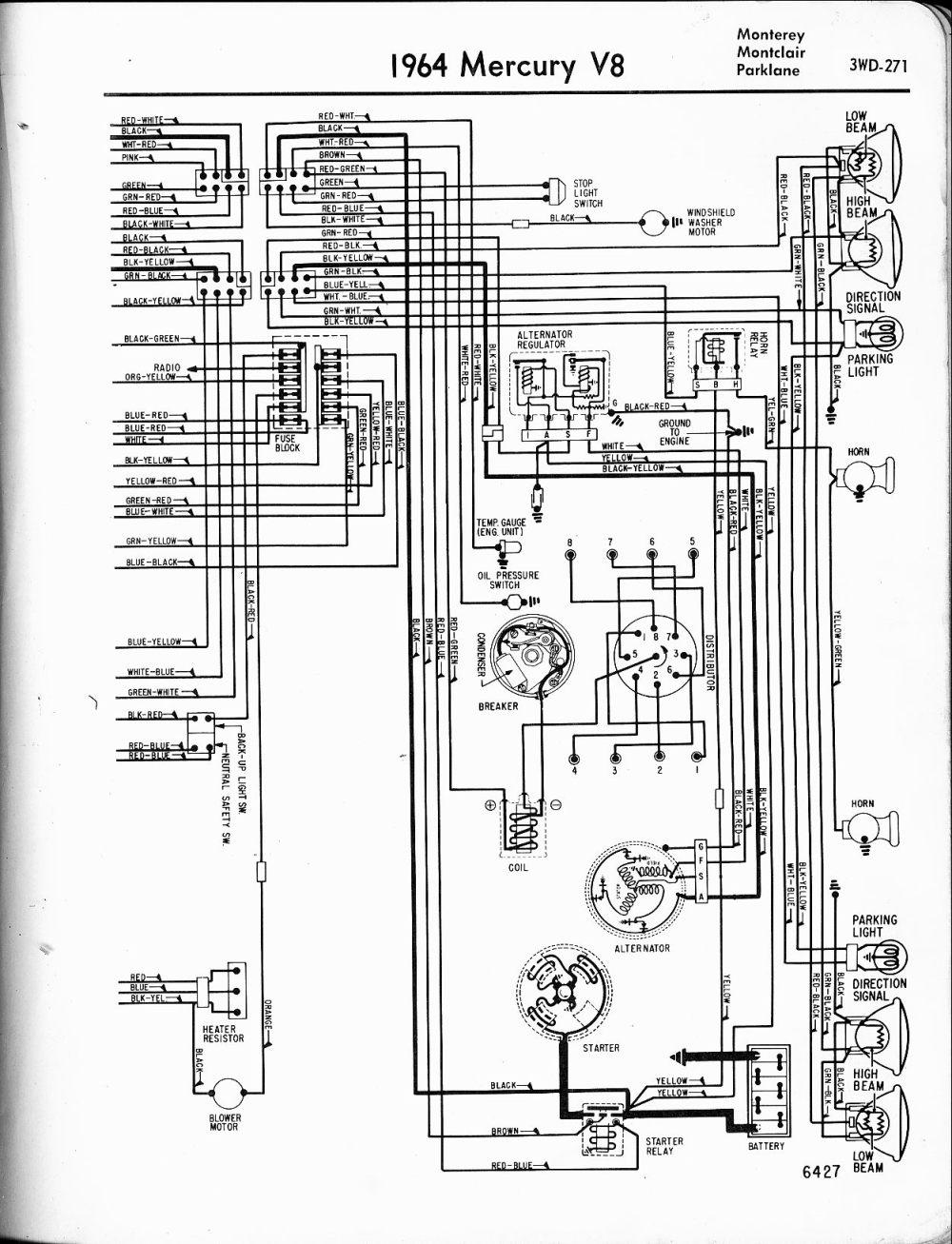 medium resolution of mercury wiring diagrams the old car manual project1964 v8 monterey montclair parklane right