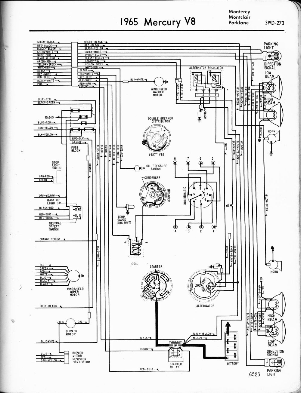 medium resolution of mercury wiring diagrams the old car manual project toyota forklift alternator wiring diagram 1965 mercury alternator wiring diagram
