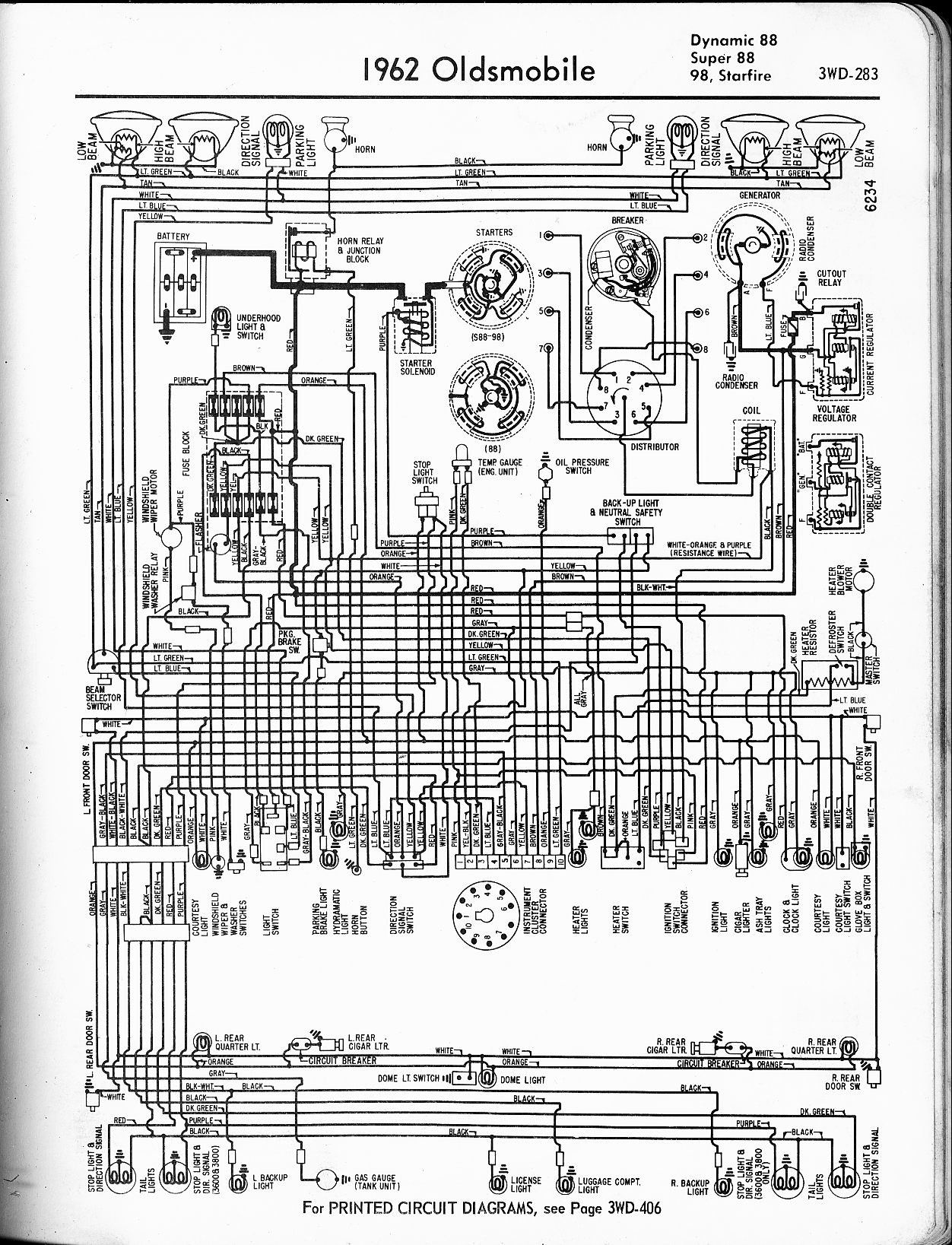 hight resolution of oldsmobile wiring diagrams the old car manual project 1999 oldsmobile 88 wiring diagram 1962 dynamic 88