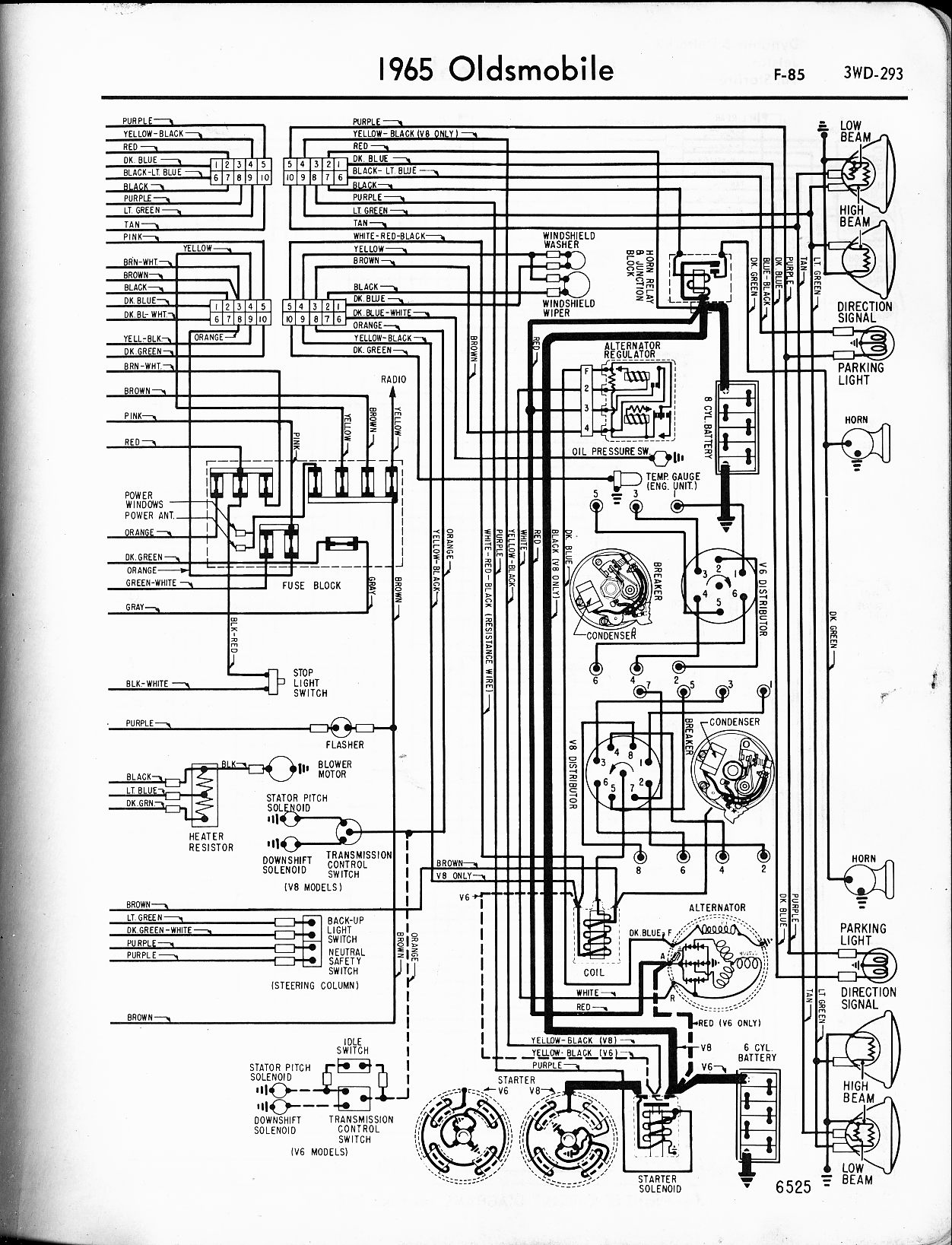 hight resolution of oldsmobile wiring diagrams the old car manual project 1965 oldsmobile 98 wiring diagram