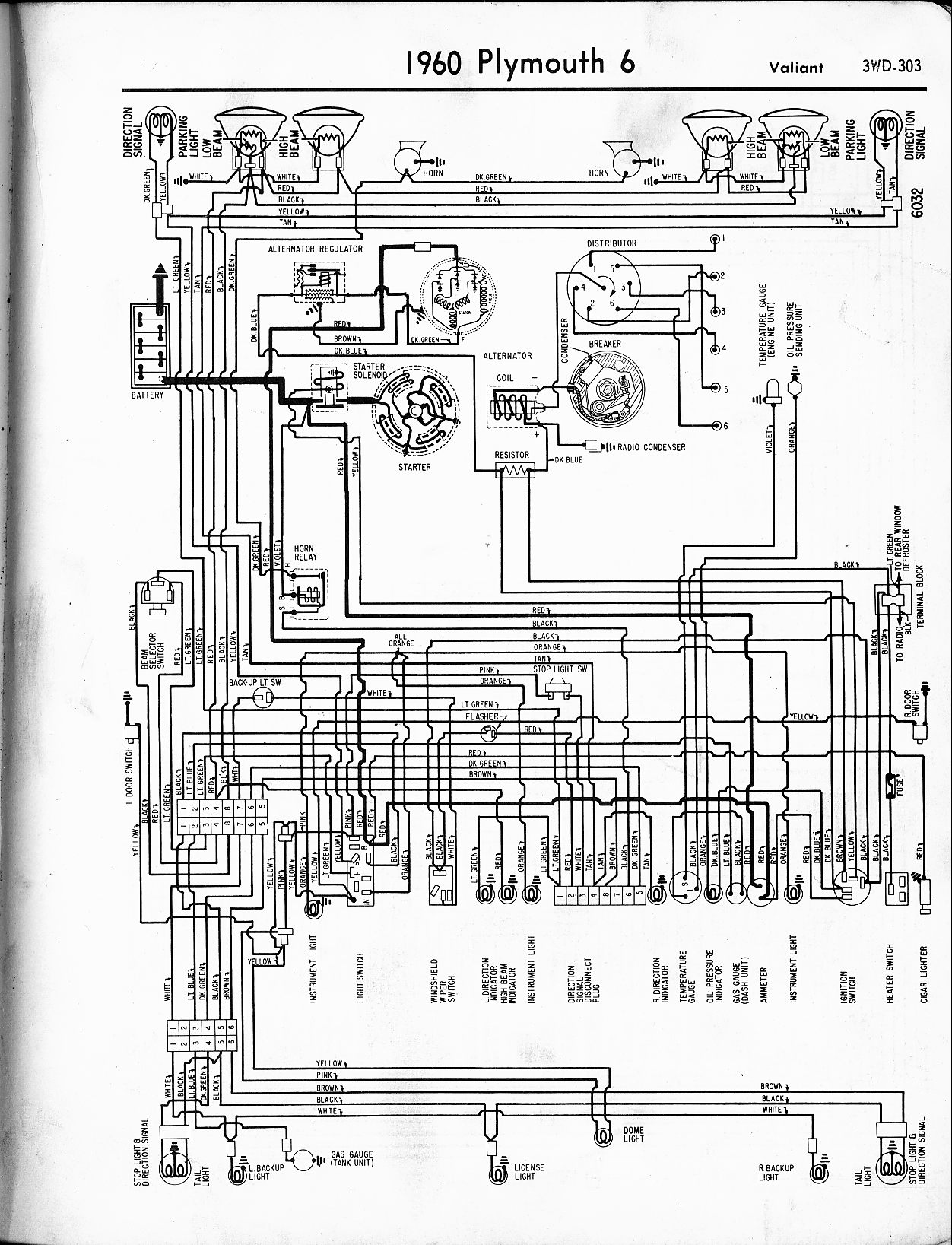 Plymouth Fury Convertible Wiring Diagram