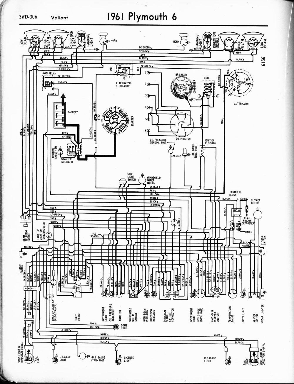 medium resolution of 1956 1965 plymouth wiring the old car manual project wiring diagrams of 1962 plymouth 6 valiant
