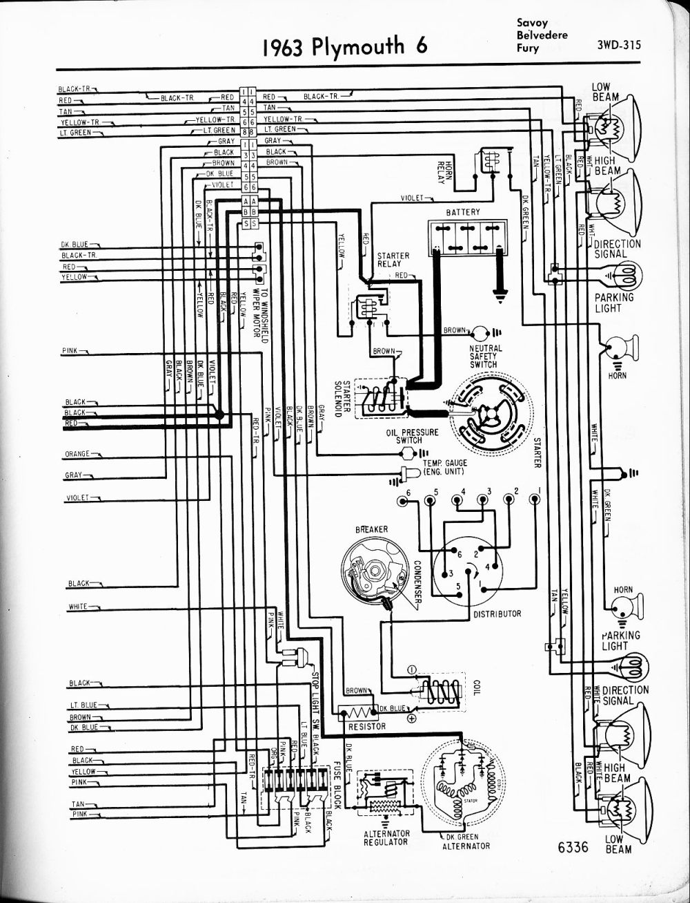 medium resolution of 1956 1965 plymouth wiring the old car manual project wiring diagrams of 1961 plymouth 6 savoy belvedere and fury