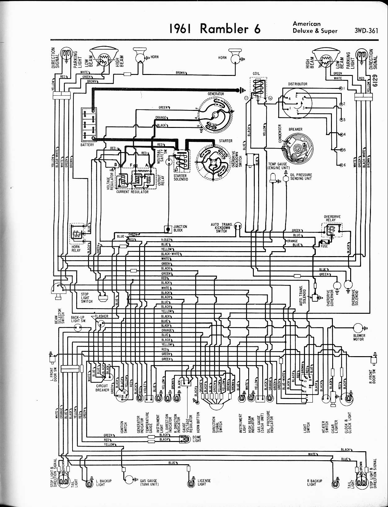 hight resolution of 1961 rambler 6 american deluxe super rambler wiring diagrams