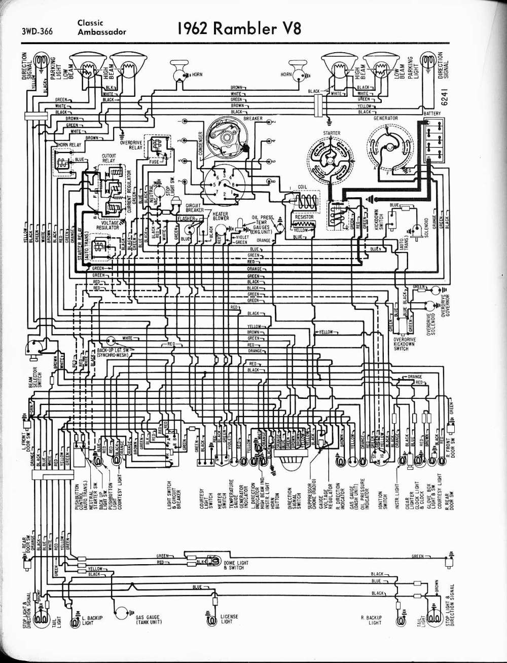 medium resolution of rambler wiring diagrams the old car manual project wiring diagrams of 1963 rambler 6 american
