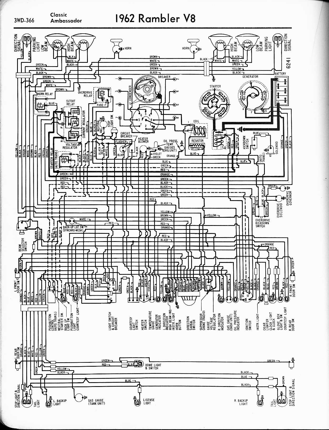 hight resolution of rambler wiring diagrams the old car manual project wiring diagrams of 1963 rambler 6 american
