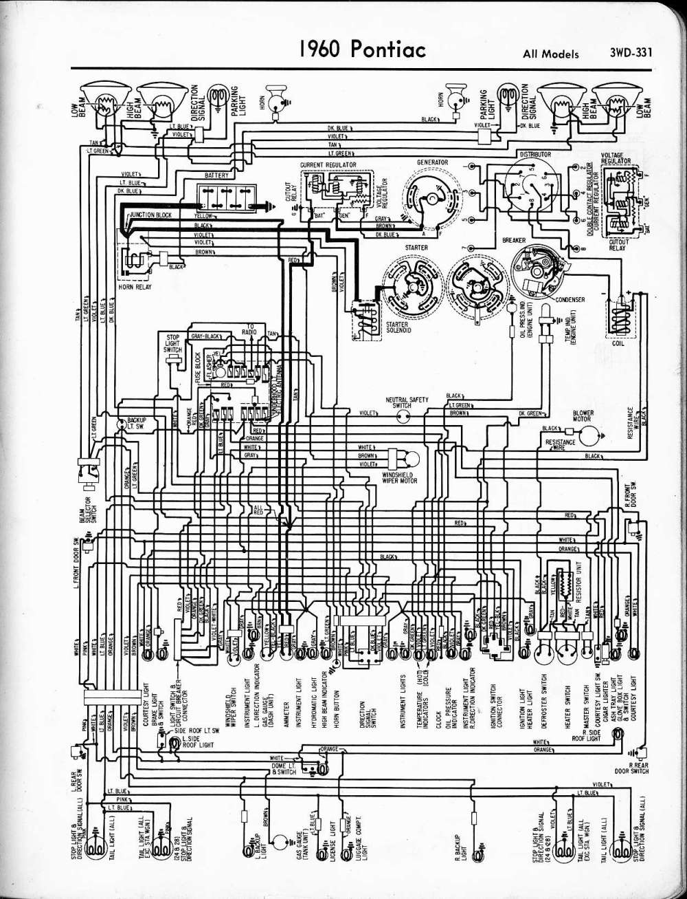 medium resolution of pontiac wiring 1957 1965 1960 pontiac catalina wiring diagrams