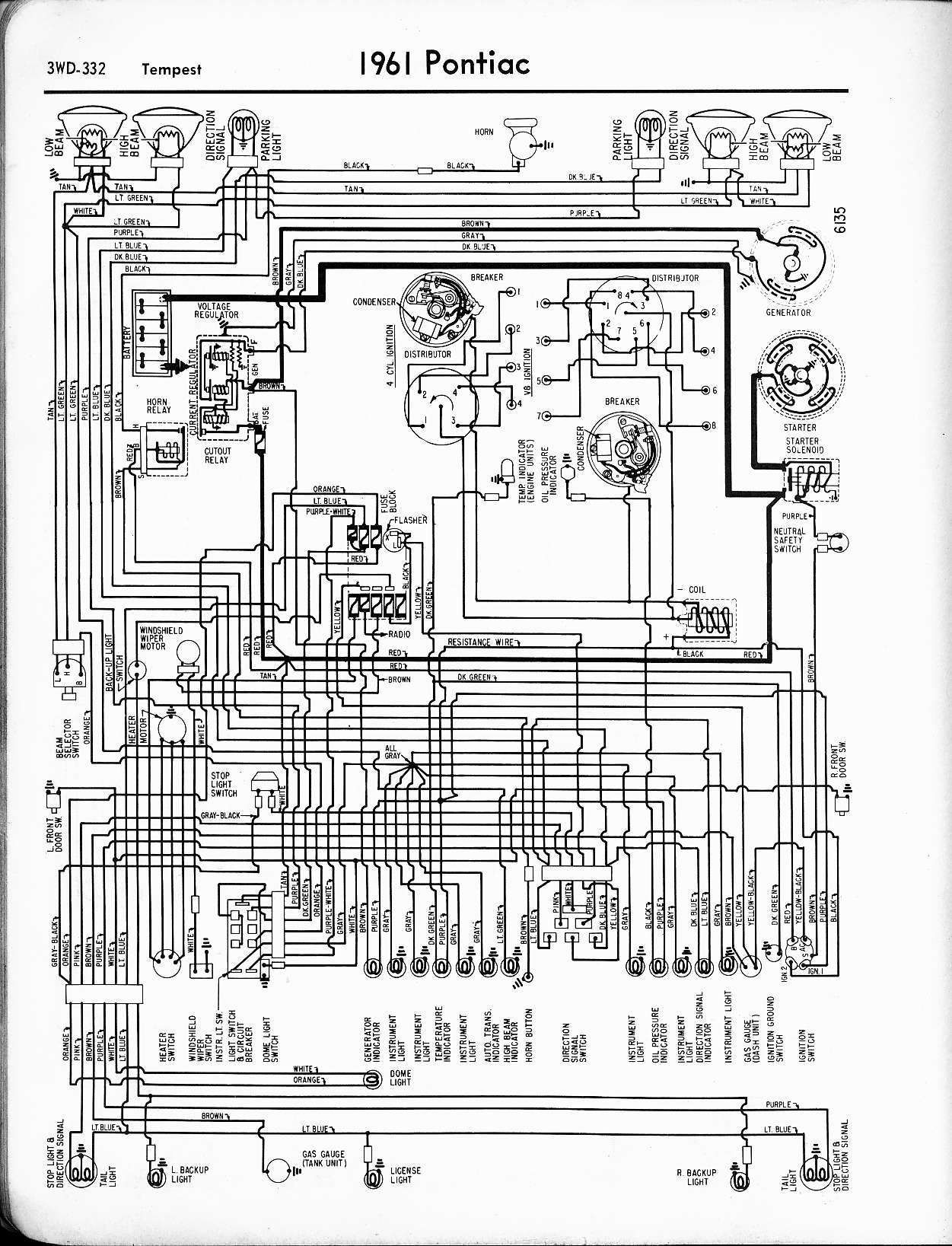 hight resolution of pontiac wiring 1957 1965 wiring diagrams of 1961 pontiac tempest