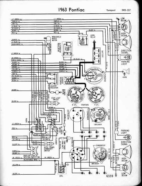 small resolution of pontiac wiring 1957 1965 rh oldcarmanualproject com 1971 pontiac firebird wiring diagram 1963 pontiac wiring diagram