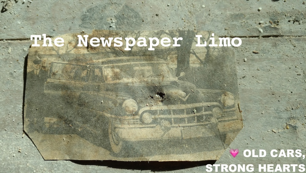 Newspaper Limo, Vehicle Gens, Graph TheNewspaperLimo_BenMissele_ClippingFoundOnHouseFloorDuringRemodeling_IL