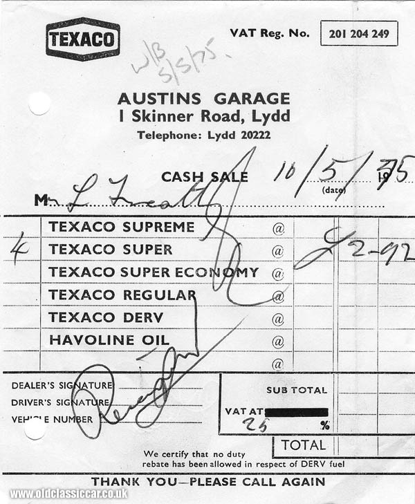 Old Gas Station Credit Card Receipts