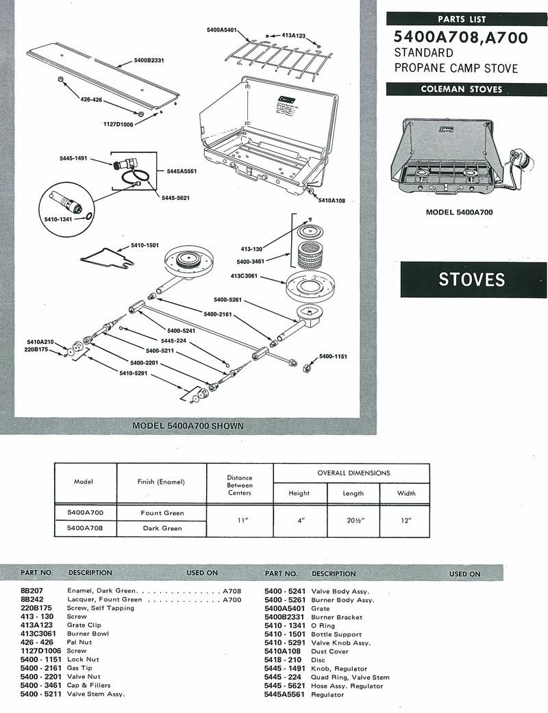 Wiring Diagram: 35 Coleman Stove Parts Diagram