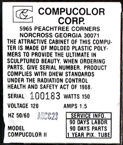 Compucolor II computer