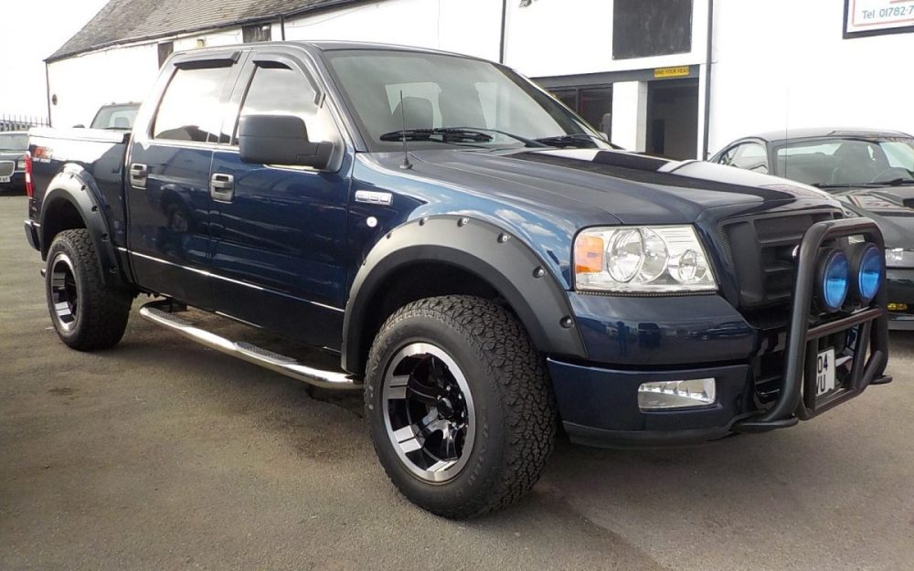 medium resolution of 2004 ford f150 fx4 off road edition 5 4 litre 4 door 4 4 pickup 61 000 miles with history portfolio metallic blue with black interior side bars