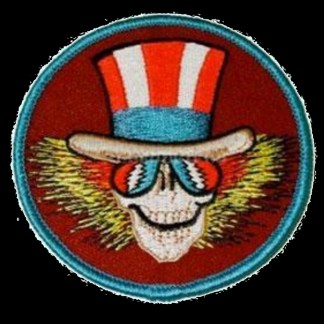 round grateful dead uncle sam skeleton patch