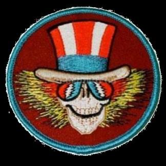 round grateful dead uncle sam skeleton patch