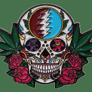 Grateful Dead Sugar Skull Hat Pin