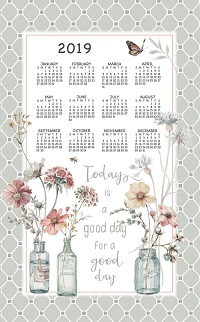 terry kitchen towels how to build an outdoor counter 2019 kay dee & stevens linen calendar - old ...
