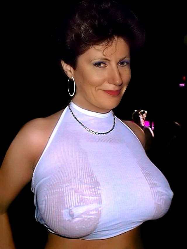 Middle aged big boobs in blouses Mature Big Tits Tight Blouse