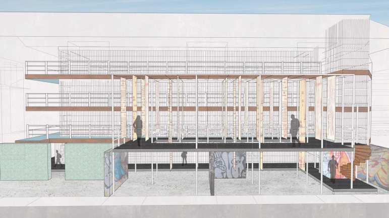 Cross Section of East Wing