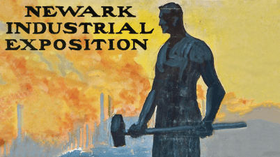 Postcard of Newark Industrial Exposition 1914