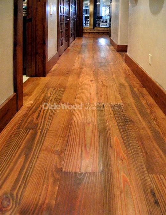 Reclaimed Select Heart Pine Flooring  Wide Plank Heart Pine