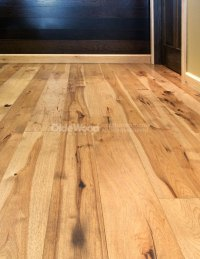Wide Plank Hickory Flooring | Hickory wood Floor | Olde Wood