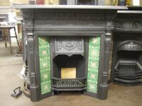 282TC  Antique Victorian Tiled Fireplace | Old Fireplaces