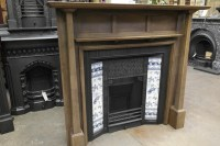 078WS-1085 - Arts & Crafts Wooden Fireplace Surround - Old ...
