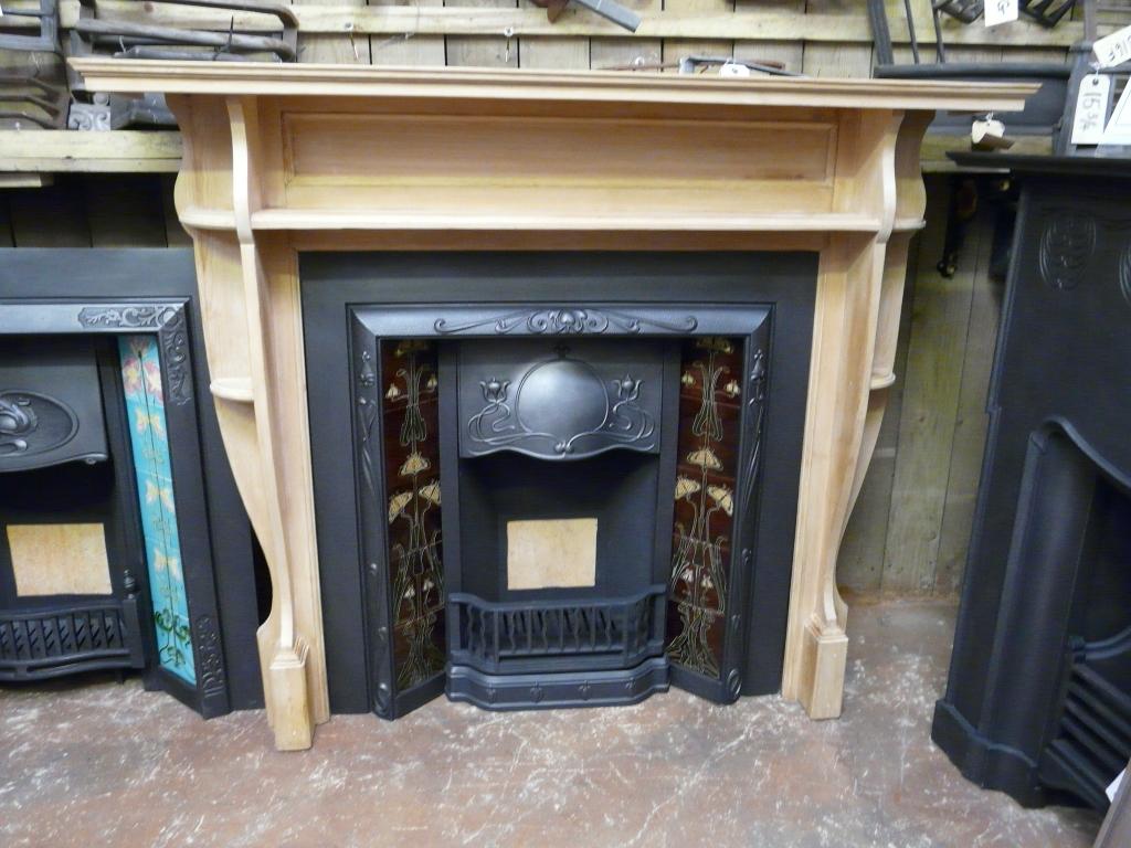 096ws Victorian Pine Fireplace Surround