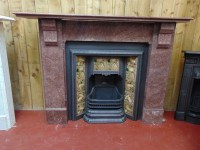 Victorian Rouge Marble Fireplace - 283MS-1516 - Old Fireplaces