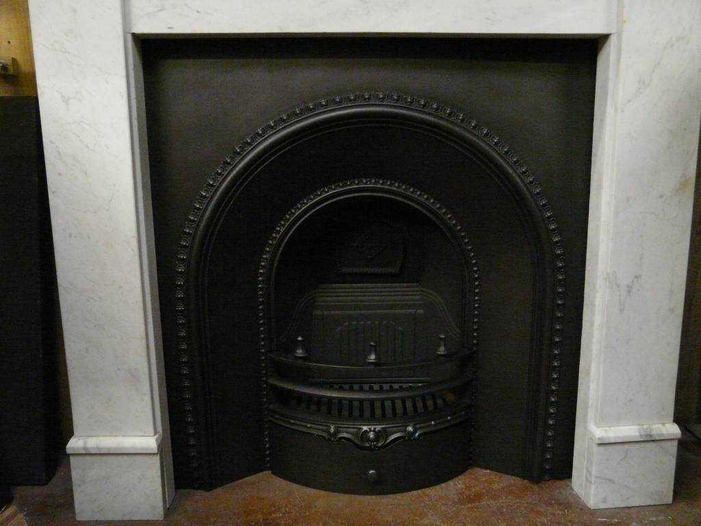 Victorian Cast Iron Arched Insert 093AI 1547 Old