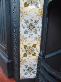 V070 - Victorian Fireplace Tiles - Old Fireplaces