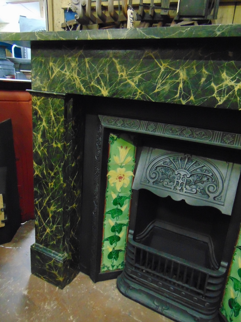 Victorian Painted Slate Fireplace  136SS1833  Old