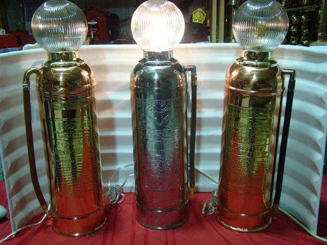 Custom Fabricated Fire Extinguisher Lamps