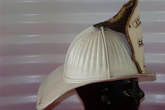 Quot High Eagle Quot White Aluminum Cairns Fire Helmet