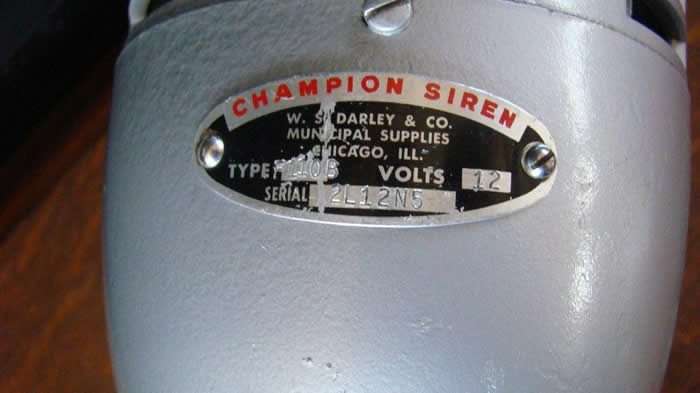 Small Size 12 Volt DC Champion Siren  Red Light