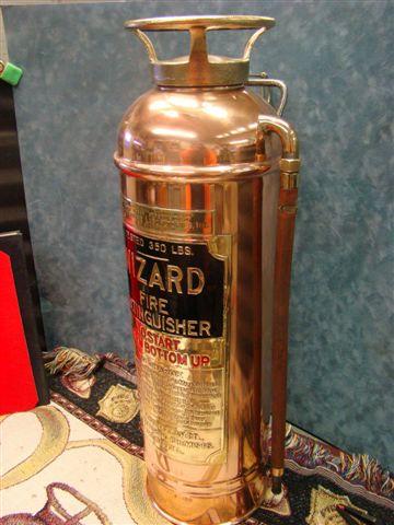 Wizard Restored SodaAcid Copper  Brass Fire Extinguisher