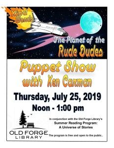 """""""Planet of the Rude Dudes"""" Puppet Show with Ken Carman"""