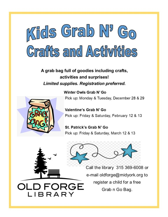 St. Patrick's Kids Grab n Go Crafts and Activities Bags Pick Up