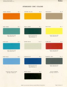 Oldgmctrucks old gmc paint codes color chips matches specifications factory also rh