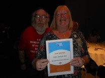 Ali O'Brien and Bernard Cromarty with Bronze Award Best Specialist Music